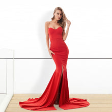 Load image into Gallery viewer, ADD Strapless Split Front Dress