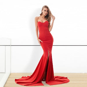 ADD Strapless Split Front Dress