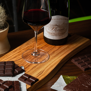 photo of wine with chocolate