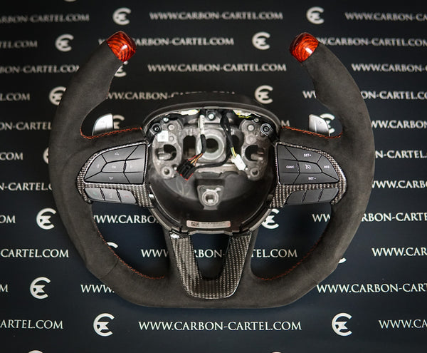 DODGE CHARGER CUSTOM MADE STEERING WHEEL