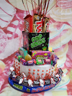 Retro Candy Birthday Cake Round