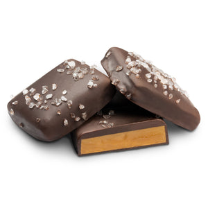 Chocolate covered toffee with sea salt