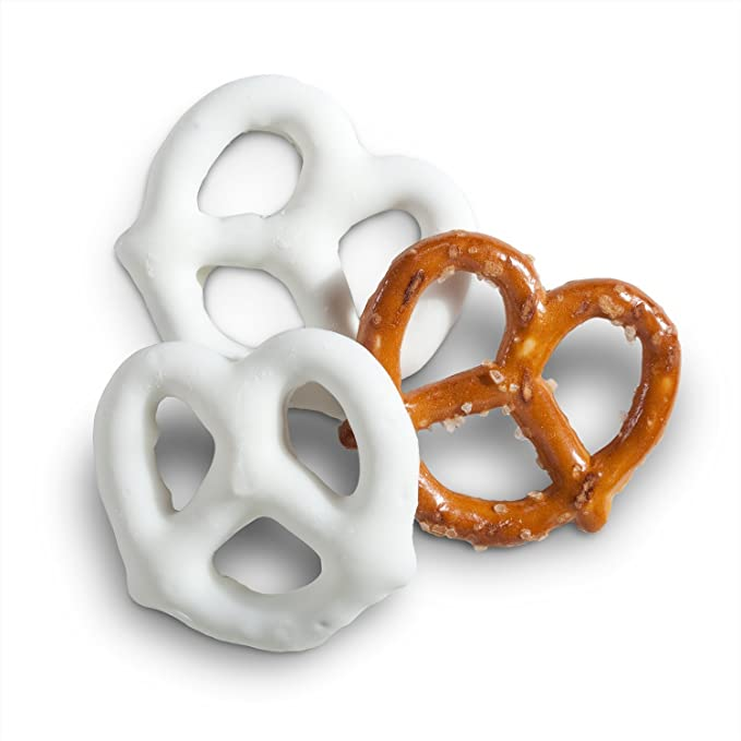 Mini White Frosted Pretzels