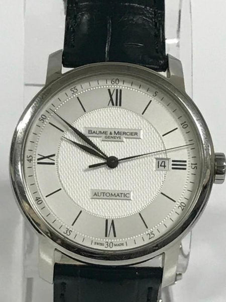 BAUME & MERCIER CLASSIMA STAINLESS STEEL WHITE DIAL AUTOMATIC WATCH 65679 - Johny Watches - New and used Rolex watches in toronto
