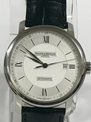 BAUME & MERCIER CLASSIMA STAINLESS STEEL WHITE DIAL AUTOMATIC WATCH 65679 - Johny Watches