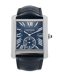 Cartier Tank MC Stainless Steel & Black Alligator-Strap Watch - Johny Watches - New and used Rolex watches in toronto