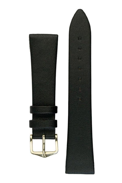 Hirsch DIAMOND CALF Open Ended Calf Leather Watch Strap in BLACK - Johny Watches - New and used Rolex watches in toronto