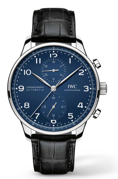 "IWC Portuguese ""150 Years Chronograph Automatic Blue Dial Men's Watch - Johny Watches - New and used Rolex watches in toronto"