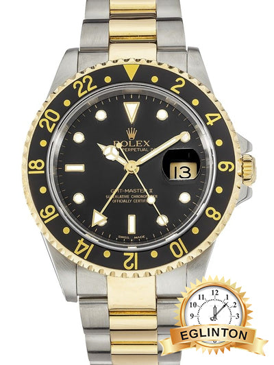 Rolex GMT-Master II 40MM Automatic Steel Gold 16713 2005 - Johny Watches - New and used Rolex watches in toronto