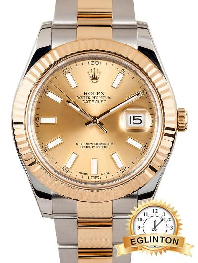 ROLEX DATEJUST II 41MM TWO-TONE 116333 NEW - Johny Watches - New and used Rolex watches in toronto