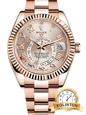 Rolex Oyster Perpetual Sky-Dweller Rose Gold - Johny Watches - New and used Rolex watches in toronto