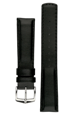 Hirsch RUNNER Water-Resistant Calf Leather Watch Strap in BLACK - Johny Watches - New and used Rolex watches in toronto
