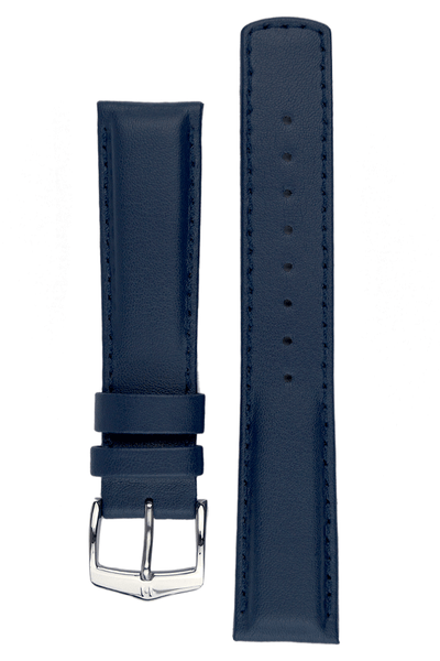 Hirsch RUNNER Water-Resistant Calf Leather Watch Strap in BLUE - Johny Watches