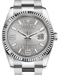 Rolex Stainless Steel Rhodium Waves Diamond Dial & Fluted Bezel Oyster Bracelet 116234 - Johny Watches