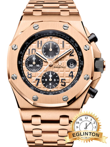"Audemars Piguet ""2017"" ROYAL OAK OFFSHORE PINK GOLD BRICK"