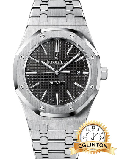 Audemars Piguet Royal Oak Black Dial Men's Watch - 15400ST.OO.1220ST.01 - Johny Watches - New and used Rolex watches in toronto