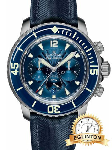 Blancpain Fifty Fathoms Flyback Chronograph Mens Watch - Johny Watches - New and used Rolex watches in toronto