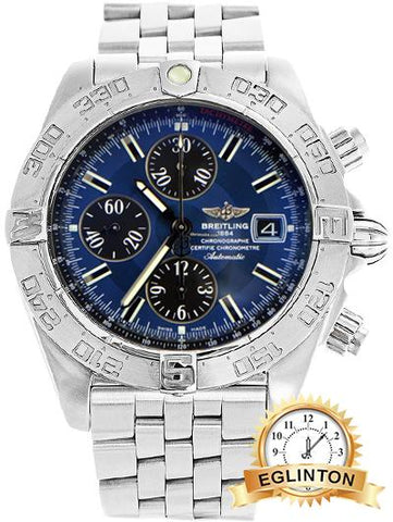 Breitling Galactic Chronograph II Blue Dial A1336410 - Johny Watches - New and used Rolex watches in toronto