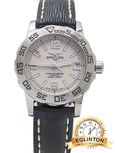 Breitling  Colt 33 Stainless Steel White Dial - Johny Watches