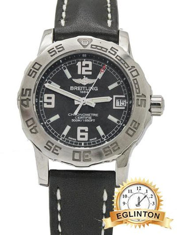 Breitling  Colt 33 Stainless Steel Black Dial - Johny Watches - New and used Rolex watches in toronto