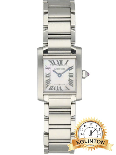 CartierTank Francaise White Dial Ladies Watch 21mm - Johny Watches