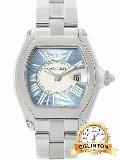 Cartier Roadster 2675 Quartz Womens Watch Blue Dial W62053V3 - Johny Watches - New and used Rolex watches in toronto