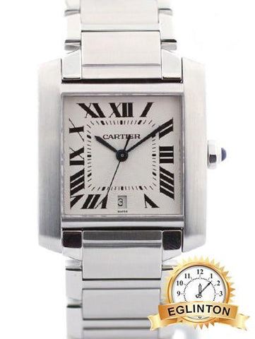 Cartier Men's Stainless Steel Cartier Tank Automatic 2302 - Johny Watches