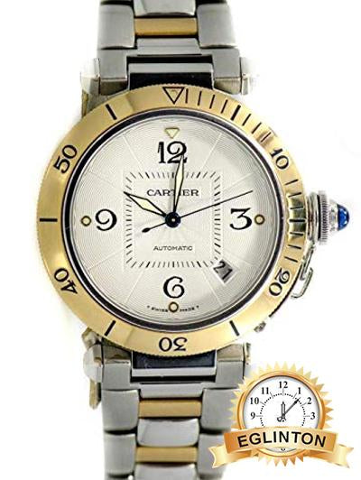 Cartier Pasha Swiss-Automatic Mens Watch 2378 Two Tone - Johny Watches - New and used Rolex watches in toronto
