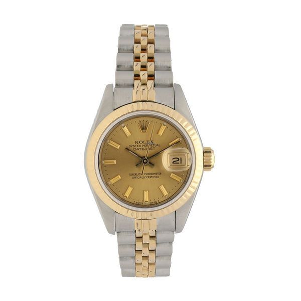ROLEX Datejust Champagne Dial Jubilee Bracelet 26mm Ladies Watch 69173CSJ - Johny Watches - New and used Rolex watches in toronto