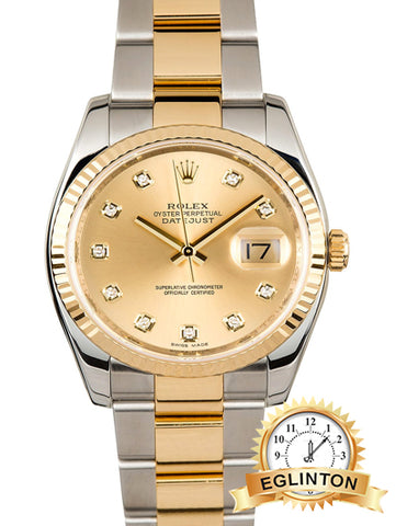 ROLEX DATEJUST 41mm 116333 CHAMPAGNE DIAMOND DIAL - Johny Watches - New and used Rolex watches in toronto