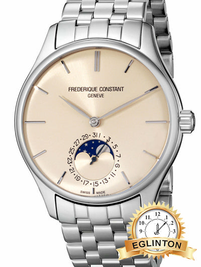 FREDERIQUE CONSTANT MANUFACTURE AUTOMATIC MOVEMENT IVORY DIAL MEN'S WATCH Model : FC-705BG4S6 - Johny Watches
