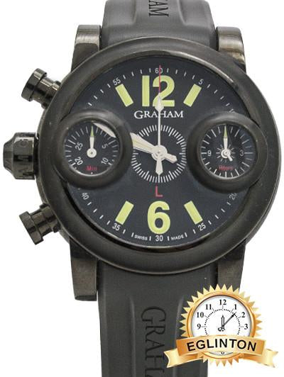 "Graham, 46mm ""Swordfish"" Chronograph Ref.2SWASE Limited edition of 500pcs in Black PVD Steel - Johny Watches - New and used Rolex watches in toronto"