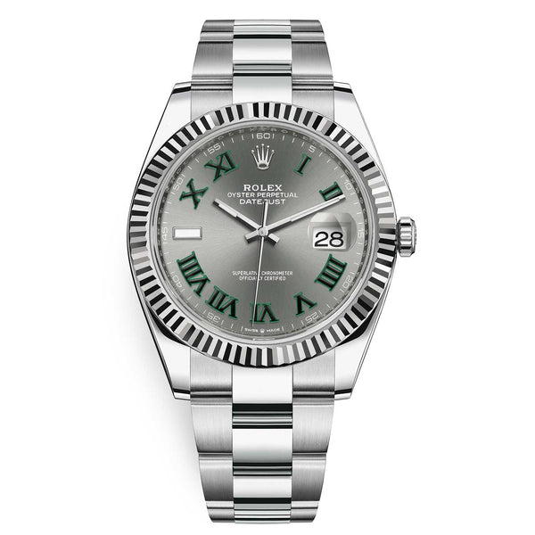 Rolex Datejust 126334 Slate Roman Oyster 41mm Stainless Steel Mens Watch - Johny Watches