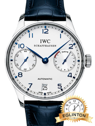 IWC Portuguese Automatic Steel Blue Men's Watch IW500107 - Johny Watches - New and used Rolex watches in toronto