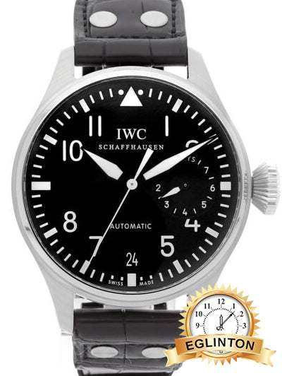 IWC Big Pilot 5004 7 Day Power Reserve 46mm Stainless Steel Black Dial Automatic Watch - Johny Watches - New and used Rolex watches in toronto