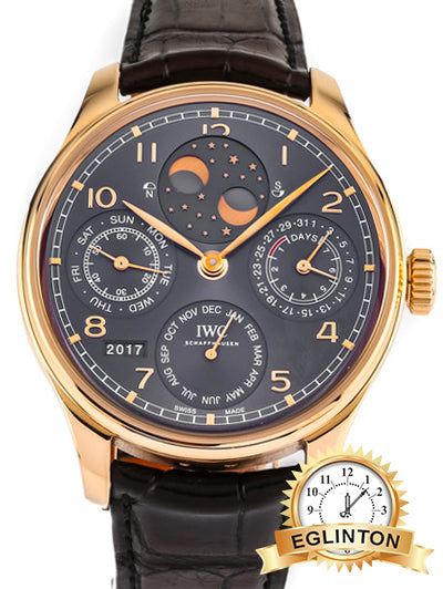 PRE-OWNED IWC PORTUGIESER PERPETUAL CALENDAR DOUBLE MOON IW502103 - Johny Watches - New and used Rolex watches in toronto