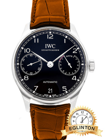 IWC PORTUGIESER 7 DAYS IW5007-03 - Johny Watches - New and used Rolex watches in toronto