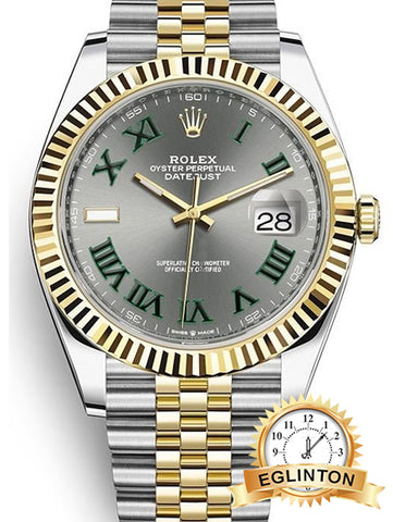 Rolex Datejust 41 Y/G & Steel Slate Green Wimbledon Jubilee 126333 2020 - Johny Watches - New and used Rolex watches in toronto