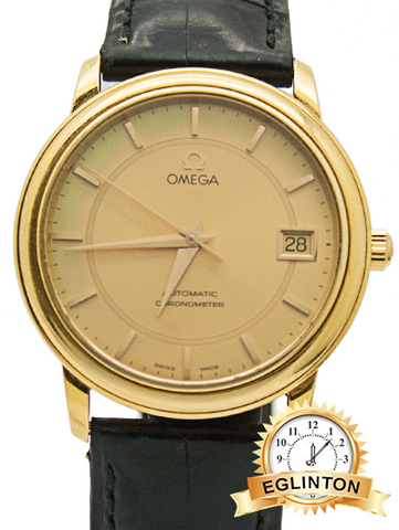 Omega 18K Yellow Gold Automatic chronometer with date - Johny Watches