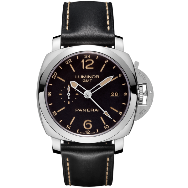 PANERAI Luminor 1950 3 Days GMT 24H Automatic Acciaio PAM00531 Stainless Steel Watch PAM 531