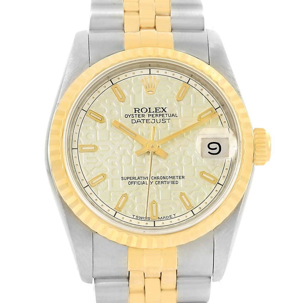 "Rolex Datejust Midsize Steel Yellow Gold Jubilee Dial Watch 68273 Box & PAPERS ""1994"" - Johny Watches - New and used Rolex watches in toronto"