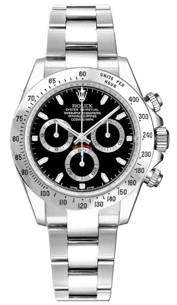 "Rolex Cosmograph Daytona Steel Bezel Black Dial 116520-0015 ""2009""""ON HOLD"" - Johny Watches - New and used Rolex watches in toronto"