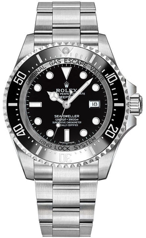"Rolex Deepsea Black Dial Men's Watch 116660-0001 ""2010"" - Johny Watches - New and used Rolex watches in toronto"