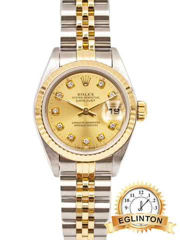 "ROLEX 6916 Lady Date 26mm Two Tone Diamond champagne dial ""1972"" - Johny Watches - New and used Rolex watches in toronto"