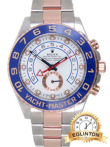 Rolex Two-Tone Yacht-Master II 18k Rose Gold Automatic Men's Watch 116681 - Johny Watches - New and used Rolex watches in toronto