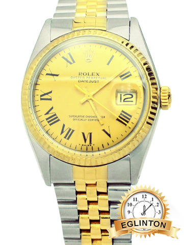 Rolex Datejust 36mm Two Tone Champagne Roman Numeral - Johny Watches - New and used Rolex watches in toronto