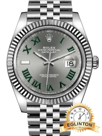 Rolex Datejust 41 Slate Grey Men's Watch 126334 - Johny Watches - New and used Rolex watches in toronto