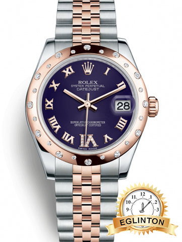 Rolex Datejust 31 31 mm Stainless Steel and Everose Gold 178341-0008 Ladies Watch - Johny Watches - New and used Rolex watches in toronto