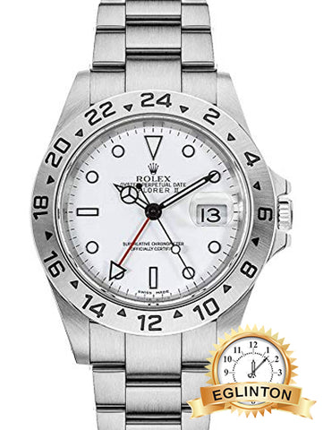 "Rolex Explorer II White Dial Oystersteel 40mm Men's Watch 16570 ""2008"" - Johny Watches - New and used Rolex watches in toronto"