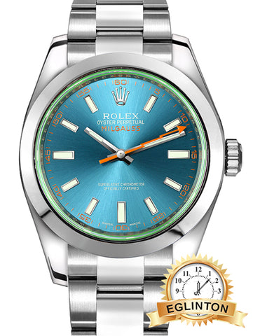 Rolex Milgauss Z-Blue Dial Luxury Men's Watch 116400GV 2019 - Johny Watches - New and used Rolex watches in toronto